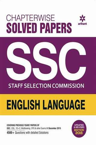 Chapterwise Solved Papers SSC Staff Selection Commission ENGLISH LANGUAGE By Arihant Publications @ #Mybookistaan.com http://mybookistaan.com/books/competition-guides/ssc-books