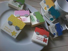 Papierschneiderei: Mini Schultaschen zur Einschulung !!