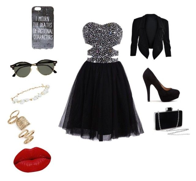 """""""Sans titre #2"""" by lisagrandet-2 on Polyvore featuring Ray-Ban, Robert Rose, Topshop et Winky Lux"""