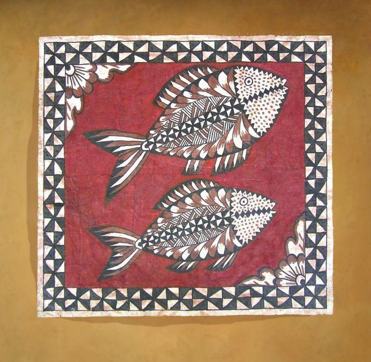 Tapa cloth.  Tongan designs at tapapacifica.com