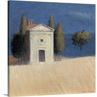 """Canvas On Demand Chapel Near Pienza II, 2012 by Lincoln Seligman Painting Print on Canvas Size: 16"""" H x 16"""" W x 1.25"""" D"""