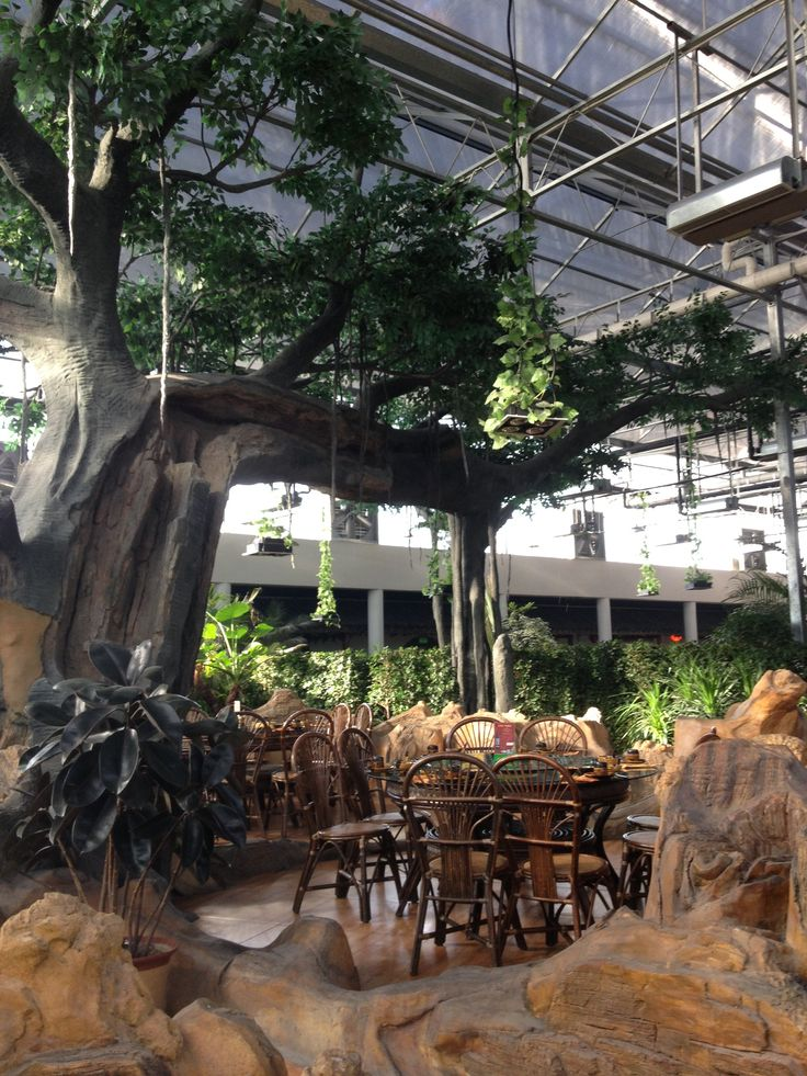 On the way back to city, pop up to a giant fantastic botanic indoor garden restaurant. Food was cheap and awesome.