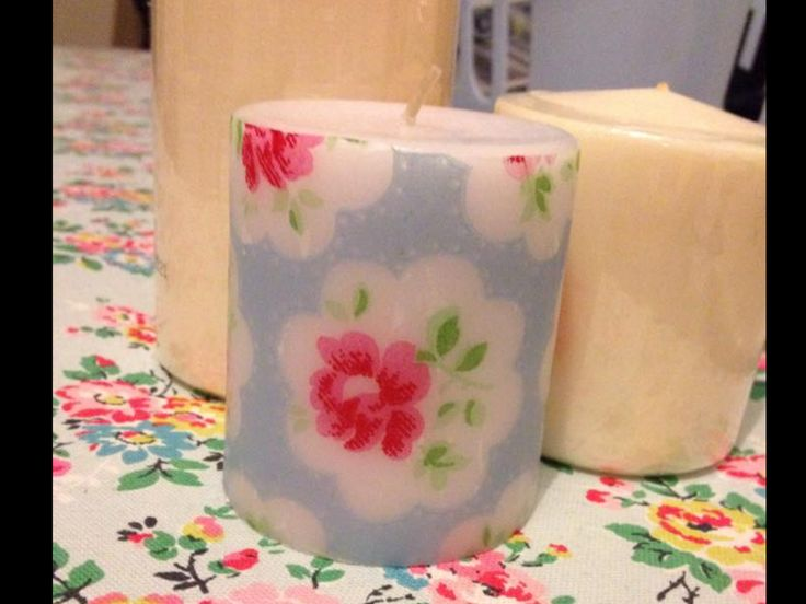 Paper napkin candle