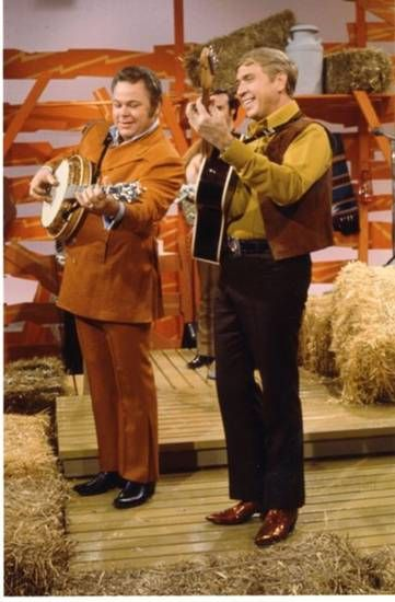 "Hee Haw Buck Owens Leaves | , left, and Buck Owens co-hosted the long-running TV show ""Hee Haw ..."