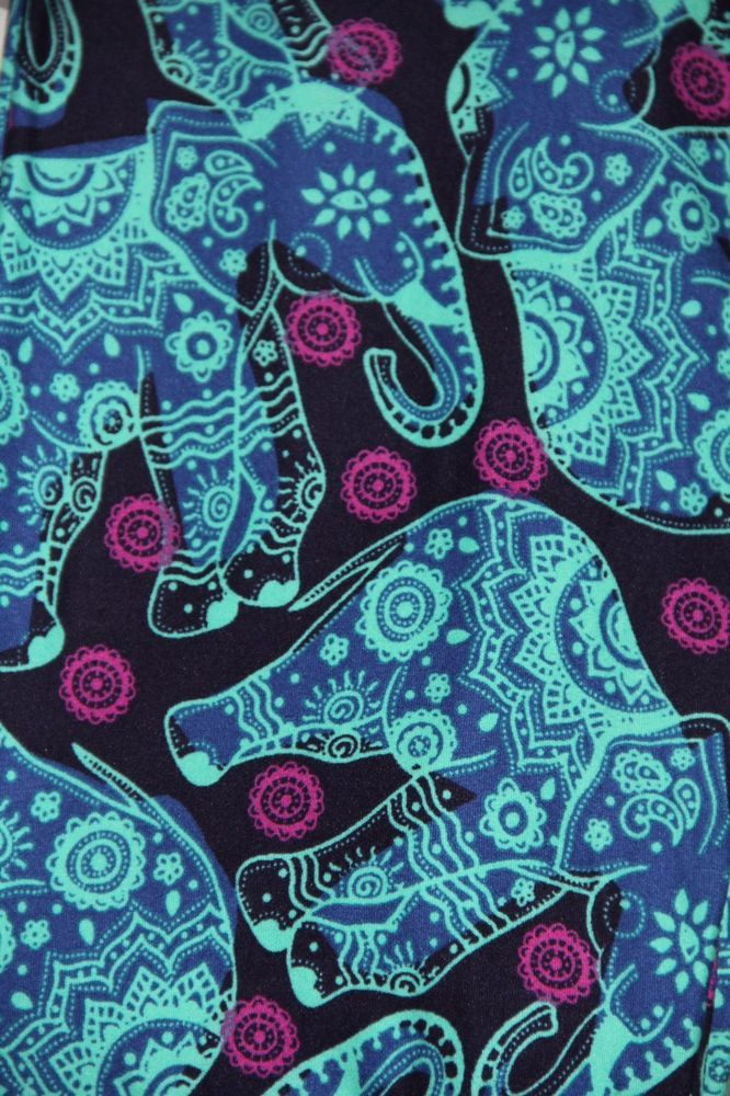 NWT LuLaRoe OS One Size Leggings Navy Teal Pink Paisley Elephant Aztec Unicorn #LuLaRoe #Leggings