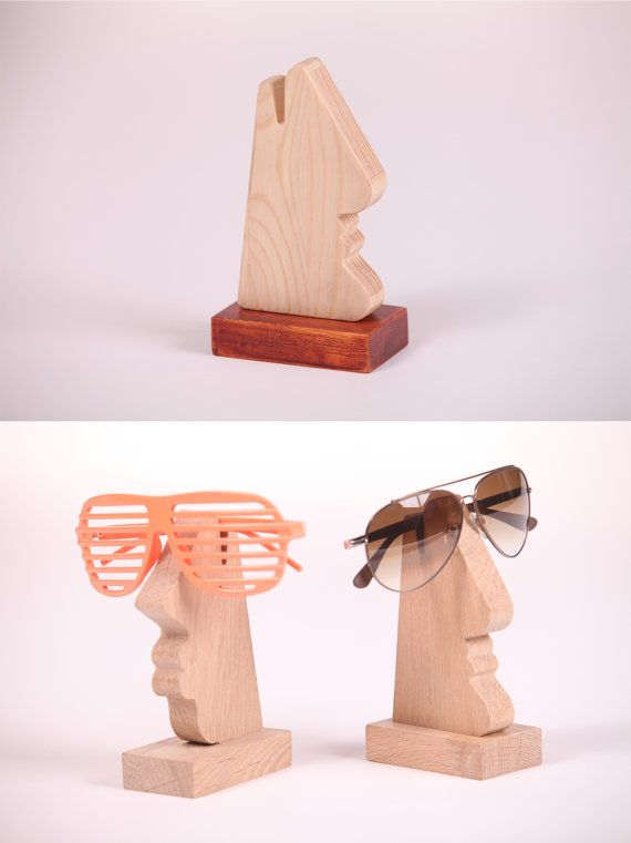 Stylish Glasses Holder for Men, Carved from natural wood/ Wooden Nose/ sunglasses holder/glasses stand/sunglasses stand/ unique holiday gift