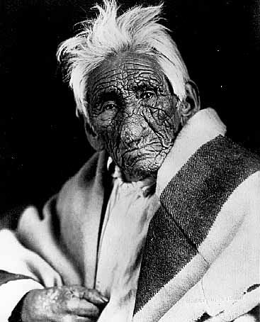 Ga-benah-gewn-wonce, also known as Kay-bah-nung-we-way, and as John Smith, a Chippewa Indian, reputed to be 137 years of age, Was 'Oldest Person in the World.'