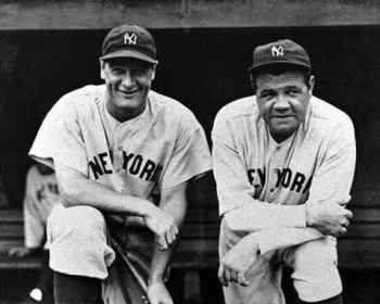 Lou Gehrig ( The Iron Horse)  George Herman Ruth ( The Babe, The King of Swat, The Bambino).