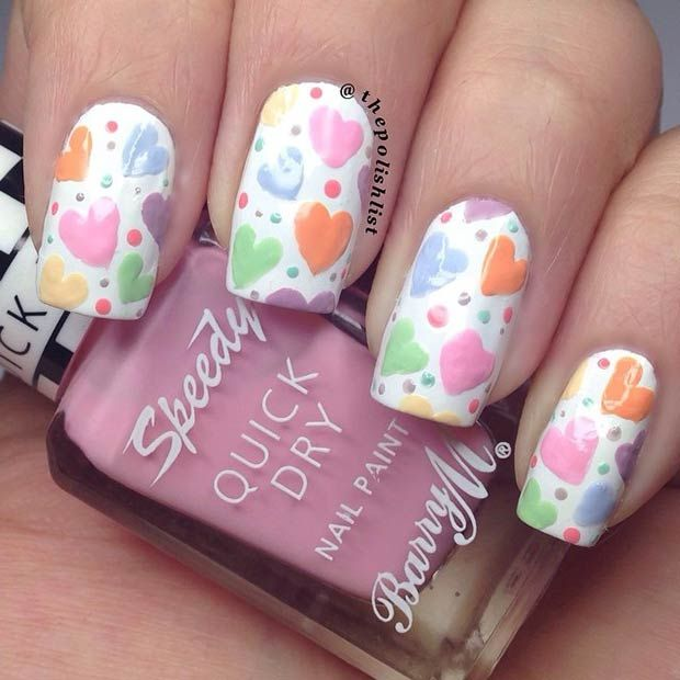 valentine special nail art
