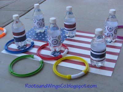 Patriotic ring toss