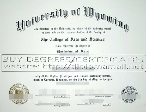 University of Wyoming diploma. buy degree, buy masters degree, buy bachelor degree, fake diploma, where to buy diploma. Skype: diplomamall QQ:601199039 E-mail: diplomamall@outlook.com Website: http://www.diplomamall.net/