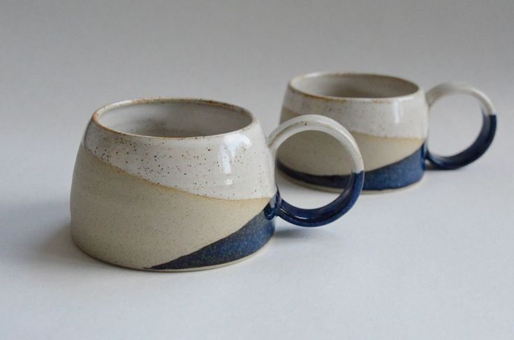 Blue, white and stone mug - from Pip Wilcox Ceramics.  Love the shape of these (the colours wouldn't work though).