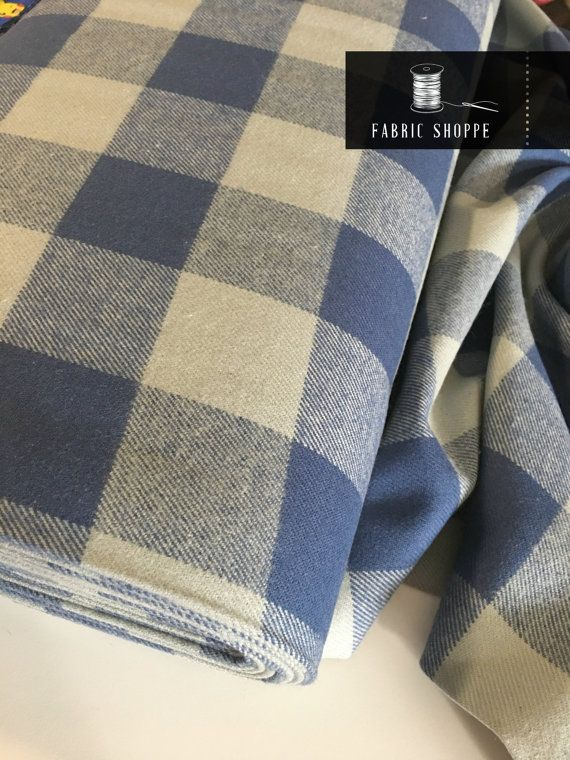 Plaid Flannel fabric, super soft Tahoe Flannel collection by Robert Kaufman Designer Fabrics. Perfect for pillows, scarves, and any apparel, even quilts. This listing is for Tahoe Flannel in Blue shown in the first picture. You can choose the cut!  (see our FREE shipping deal below)  Quantity button will allow you to purchase fat quarters, 1/4 yards, half yards, or yardage. Price and size are listed in the dropdown menu. Multiple quantities will be cut in one continuous piece. 100% cotto...