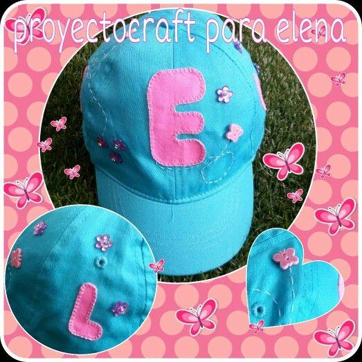 Gorra personalizada para niña