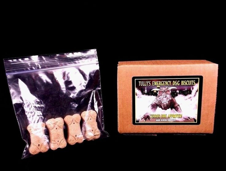 """TULLY'S EMERGENCY DOG BISCUITS"" Gozer Zuul GHOSTBUSTERS PROP movie terror Louis"