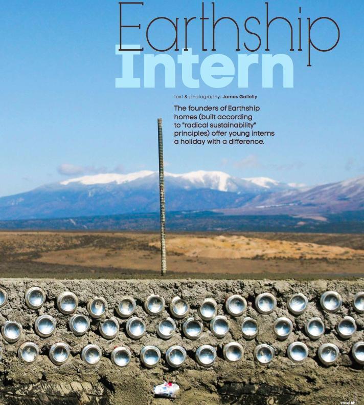 earthship intern - photography: James Galletly