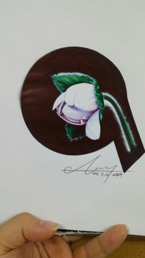 노루귀(한국의 야생화) 볼펜화 Korea flower , Hepatica  ballpoint pen art!