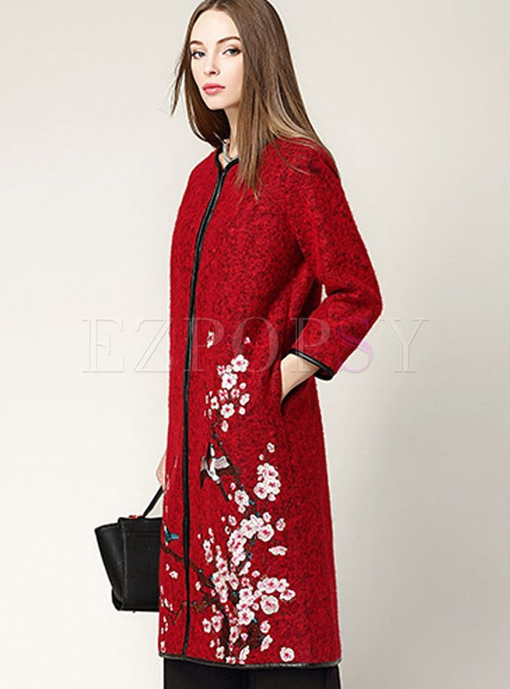 Shop for high quality Patchwork Embroidery Lace Brief Vintage Coat online at cheap prices and discover fashion at Ezpopsy.com