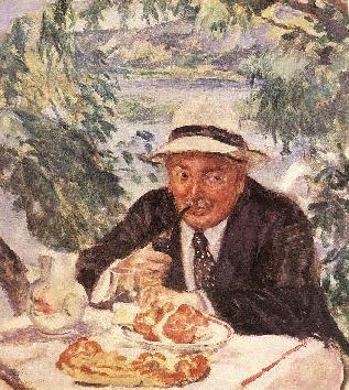 Csók István-Keresztapa reggelije