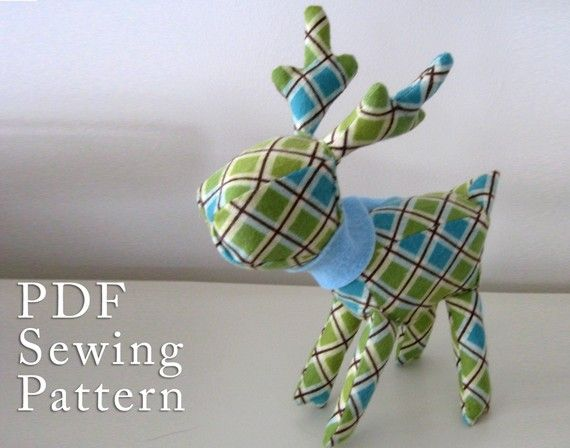 Simple and fun. Use up that fabric to make these little cuties!