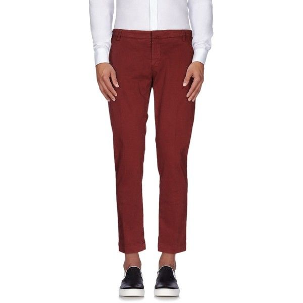 Entre Amis Casual Pants ($112) ❤ liked on Polyvore featuring men's fashion, men's clothing, men's pants, men's casual pants, maroon, mens zip off pants, mens chino pants, mens chinos pants and mens maroon pants