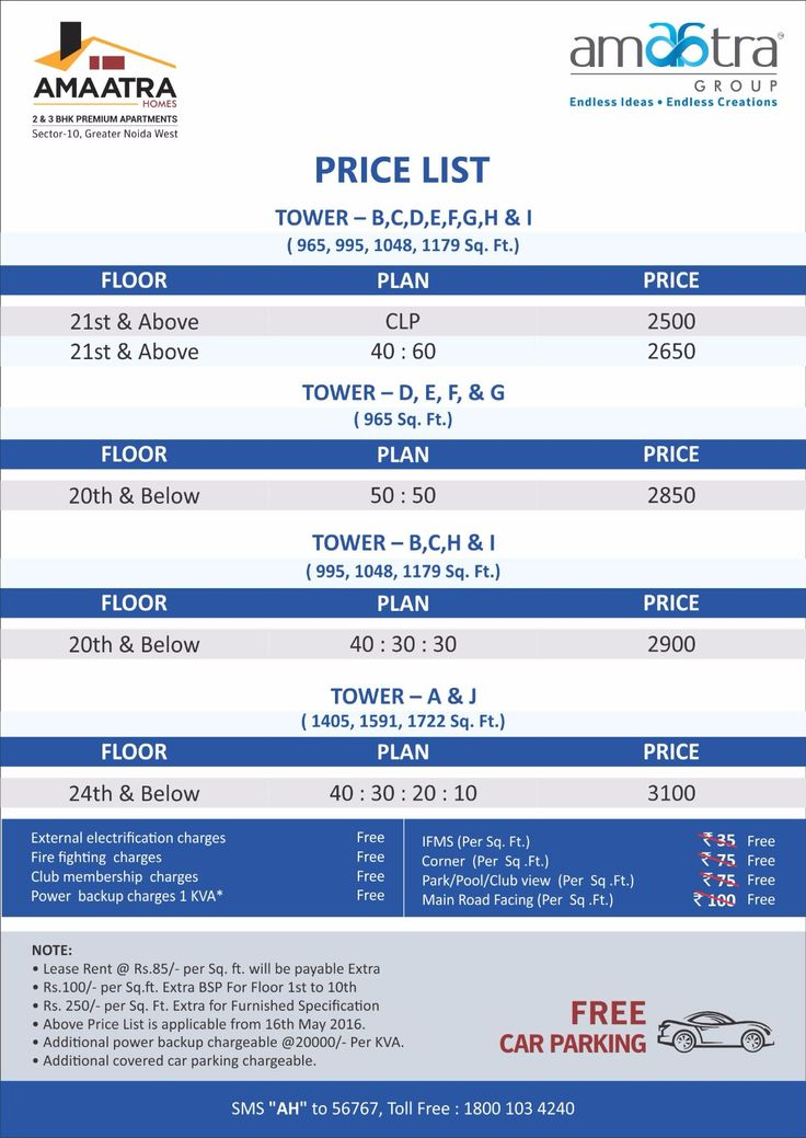 Amaatra Homes Price List