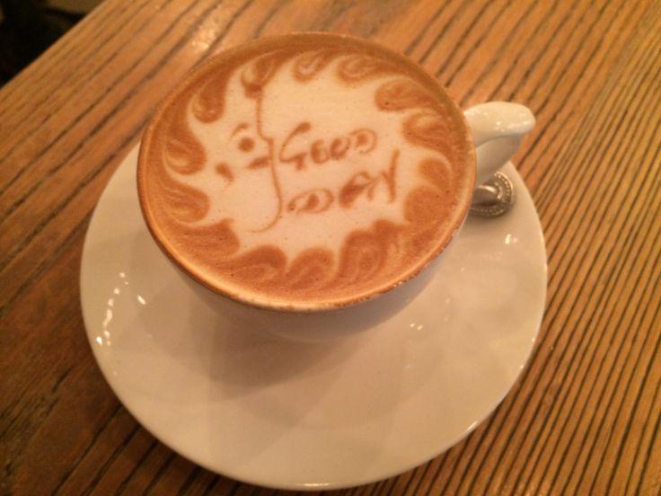 #Coffee #Art A beautiful frothy cappuccino at Life Grand Cafê, Hyde Park http://www.lifegrandcafe.com #Johannesburg #CafêCulture