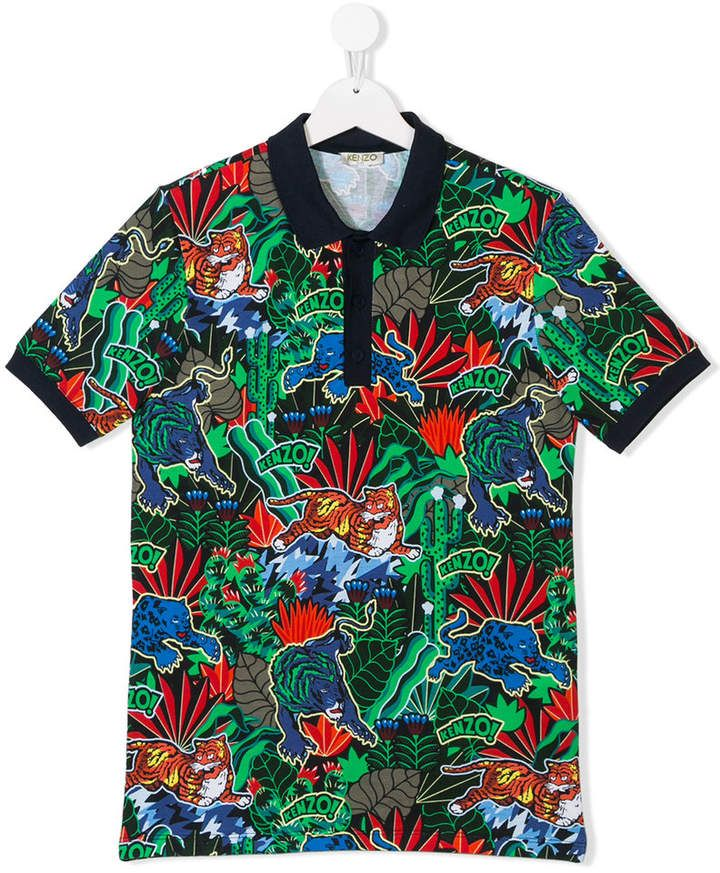 e2d00ae2 Kenzo multi-print polo top | Products in 2019 | Kenzo kids, Printed polo  shirts, Tops