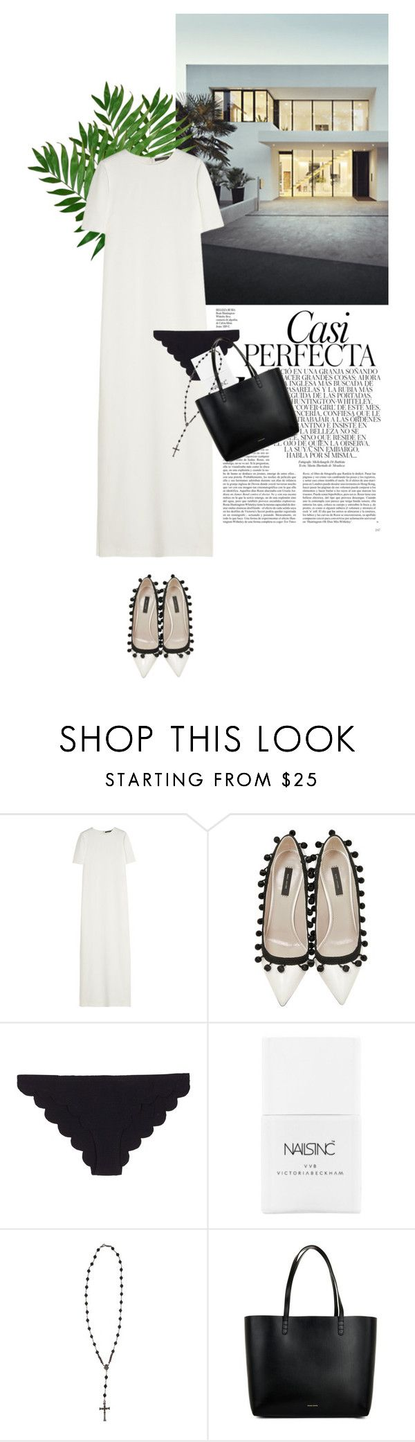 """""""dfghjklö"""" by rosa-loves-skittles ❤ liked on Polyvore featuring Whiteley, Alexander McQueen, Marc Jacobs, Marysia Swim, Nails Inc., Roman Paul and Mansur Gavriel"""