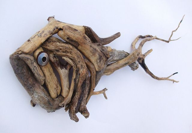 *Driftwood fish i like I'm gonna have a pond so i will have a fence around it i could have it on the gate!