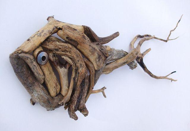 Treibholz-Fisch