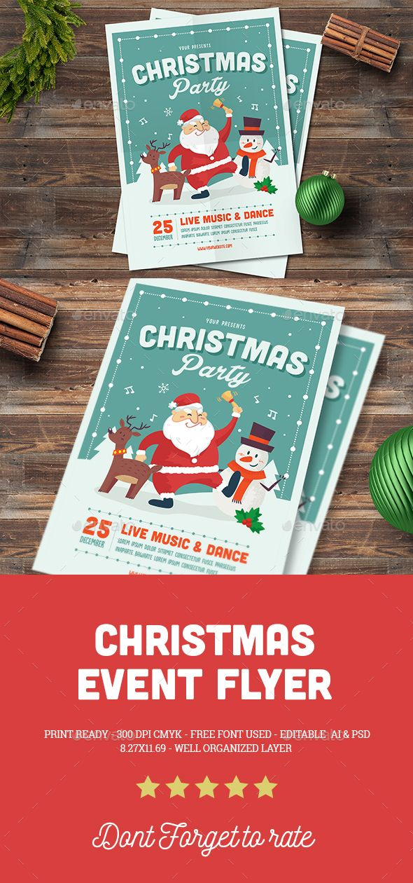 730 best Christmas Flyer Templates images on Pinterest Retro - free holiday flyer templates word