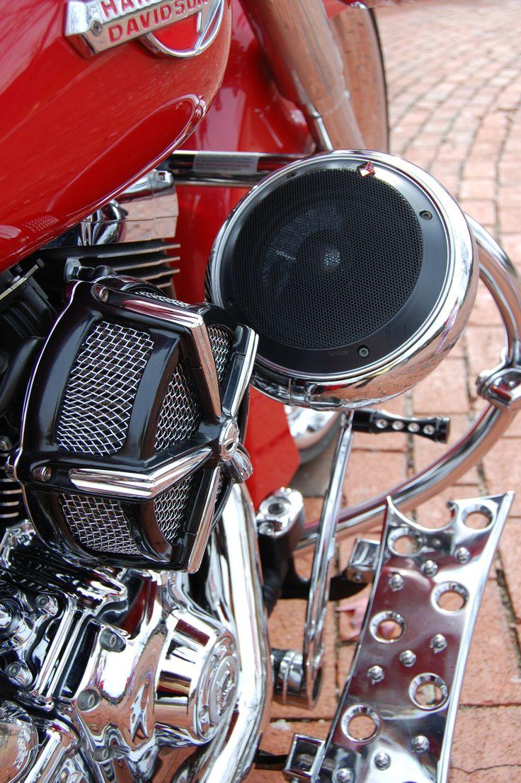 Custom Made Speaker Pods Red Softail Bagger Pinterest