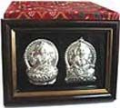Silver Plated Lakshmi-Ganesha in frame available for Hyderabad delivery. Secured online payments.  See more gifts : www.flowersgiftshyderabad.com/Diwali-Gifts-to-Hyderabad.php