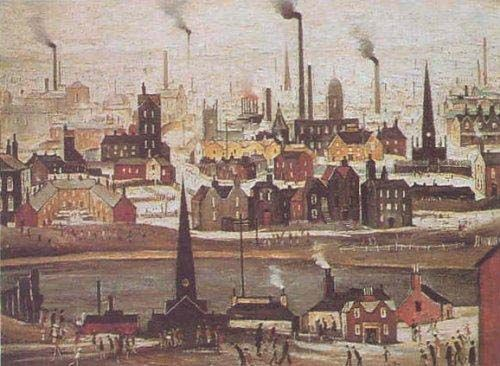 Industrial Landscape: The Canal, 1945 by L.S. Lowry (1887–1976)