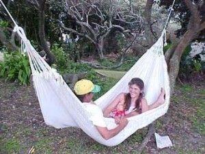 www.dreamtimehammocks.co.za The Sleeping Hammock - Valentine double for the lovely couple, an ideal wedding gift.