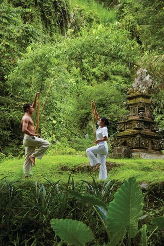 Private Power Yoga at The Spa, Four Seasons Resort, Ubud Bali