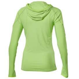 Asics shirt lange mouw hoody 1/2 zip neon groen dames hardloopshirt met rits en lange mouw  € 44,95