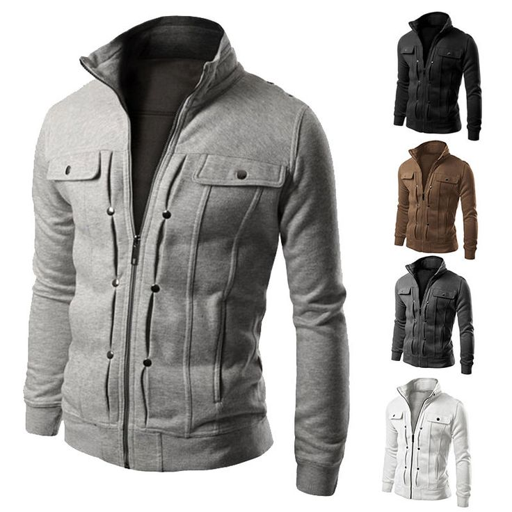 2015 Men's Slim Winter Coat Jacket Outerwear Overcoat Casual Tops Warm  Blazer in Clothing, Shoes