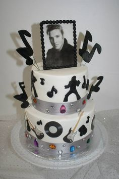 32 Best Elvis Presley Cakes Images On Pinterest Elvis