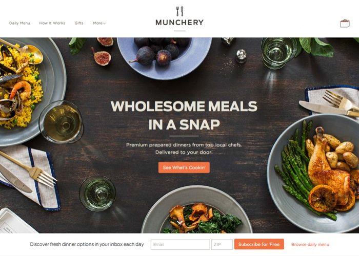 Munchery #webdesign #inspiration #UI