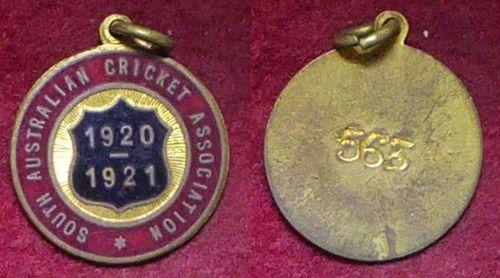 1920-21-South-Australian-Cricket-Association-Members-Badge
