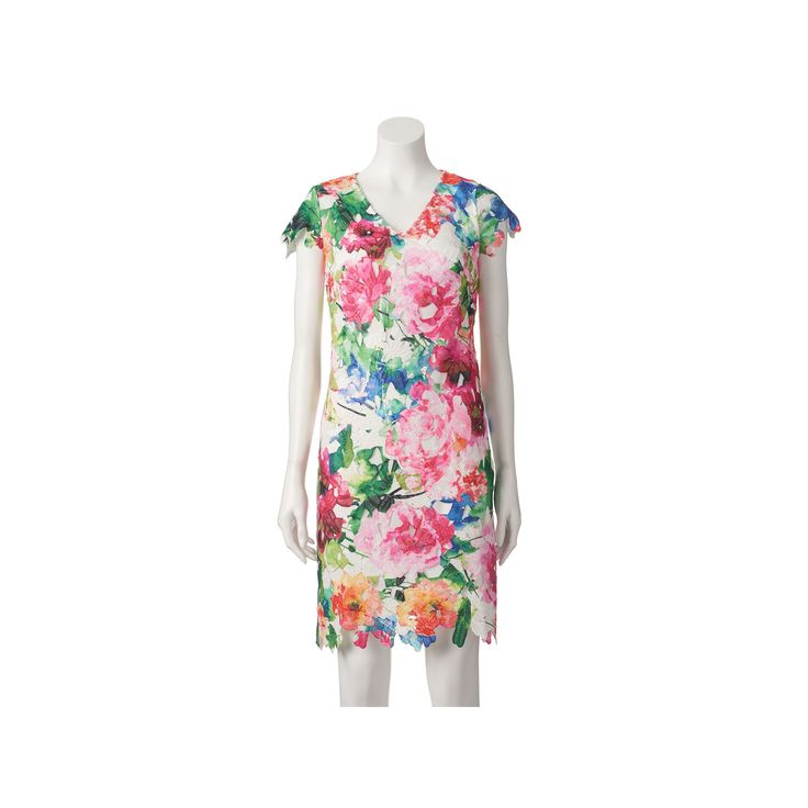 Women's DR by Donna Ricco Floral Lace Sheath Dress, Size: 4 - regular, Pink Other