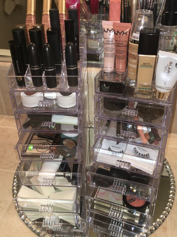 Super Glam Acrylic Makeup Organizers by GlamGirlGalore on Etsy