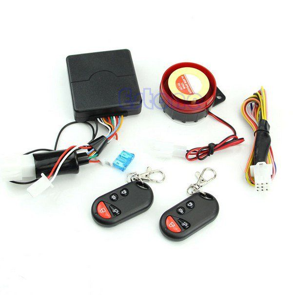 motorcycle bike alarm system anti theft security remote. Black Bedroom Furniture Sets. Home Design Ideas