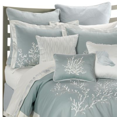 Love this line of bedding. So beautiful. It looks like what belongs at an upscale beach hotel.  Harbor House Coastline Comforter Set - BedBathandBeyond.com