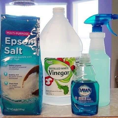 Weed Killer 1 Gallon white vinegar 2 cups multi purpose epsom salt 1/4 cup regular blue dawn dish soap @ its-a-green-life