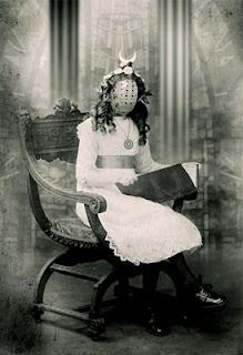 girlBedtime Stories, Creepy, Vintage Halloween, Photos Gallery, Masks, Old Photos, Halloween Photos, Old Photographers, Old Stuff