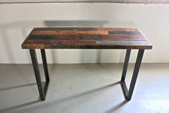 Gallery For > Reclaimed Wood Table Metal Legs
