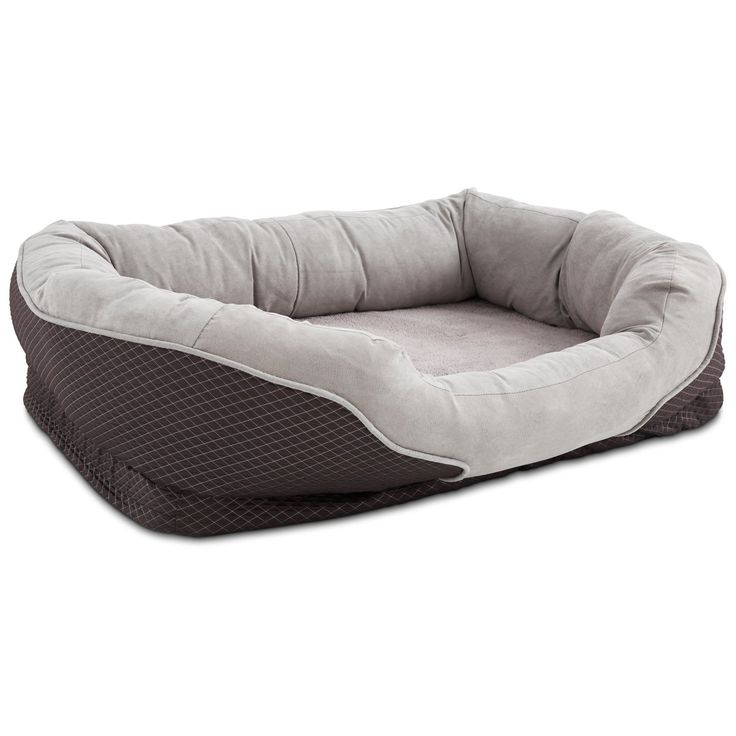 "Amazon.com : Petco Orthopedic Peaceful Nester Gray Dog Bed, 40"" L X 30"" W X 10""H : Pet Supplies"